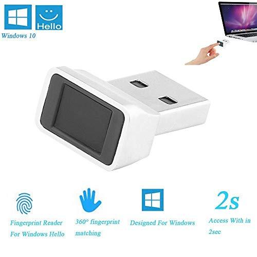 ONEVER Smart ID Lector de Huellas Dactilares USB para Windows 10 32/64 bits - Llave de Seguridad Escáner biométrico de Huellas Dactilares Sensor Dongle Módulo para Acceso instantáneo al Tacto