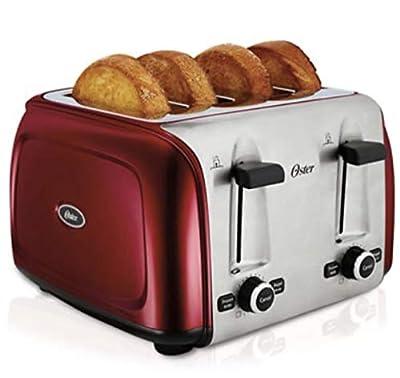 Oster 4-Slice Toaster, Metallic Red (TSSTTR4SRD-NP)