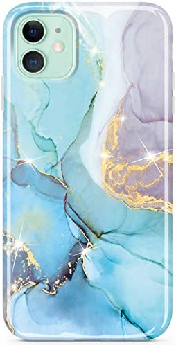 JIAXIUFEN Compatible with iPhone 11 Case Gold Sparkle Glitter Marble Slim Shockproof Flexible product image