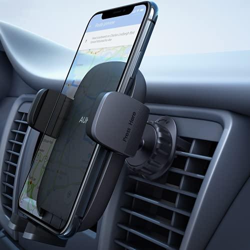 AUKEY Versione Aggiornata Porta Cellulare da Auto Condotto dell'Aria Supporto Smartphone per Auto (Garanzia a Vita) Universale per iPhone 12 / 11 / X / 8 / 7, Samsung S9 / 8/7, Xiaomi, Huawei e GPS