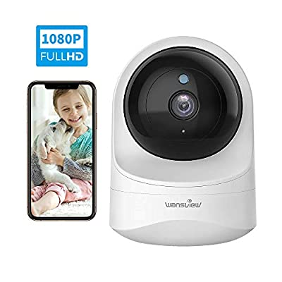 Baby Monitor Camera, Wansview 1080PHD Wireless Security Camera for Home, WiFi Pet Camera for Dog and Cat, 2 Way Audio, Night Vision, Works with Alexa Q6-W