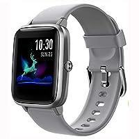【Orologio Fitness Tracker & Multifunzione】: Lo Smartwatch GRDE registra i dati di allenamento e le attività di tutto il giorno in tempo reale. GPS condiviso, puoi vedere il percorso GPS sullo telephono. Promemoria allarme. 9 modalità di allenamento m...