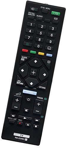 ALLIMITY RM-ED062 149271811 Telecomando Sostituisci per Sony Bravia LED LCD Smart TV KD-43XE7077 KDL-32R423A KDL-32RE400 KDL-40R473A KDL-40R474A KDL-40R485B KDL-40R550C KDL-40RD455 KDL-46R473A