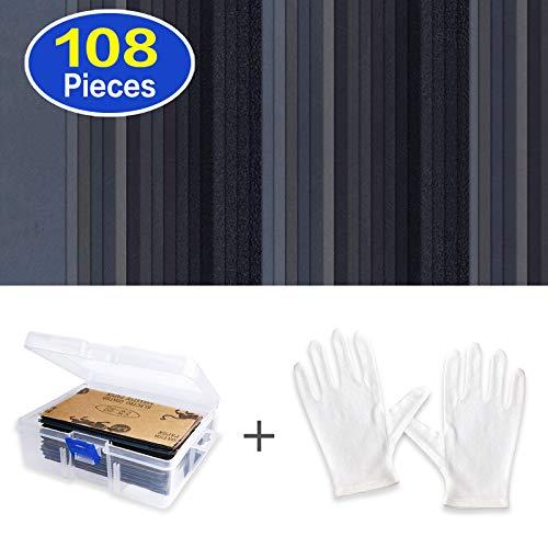 Schleifpapier sortiert feucht/trocken, 108 Stück, Körnung 60 bis 3000, 7,6 x 14 cm Bögen Schleifpapier mit Box, zum Schleifen in der Automobilindustrie und für Holz