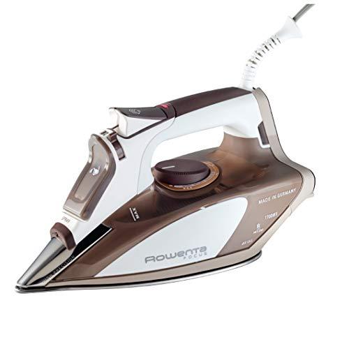 Rowenta dw5080Focus 1700-watt Micro Plancha de vapor suela de acero inoxidable con apagado automático, 400-hole, color marrón
