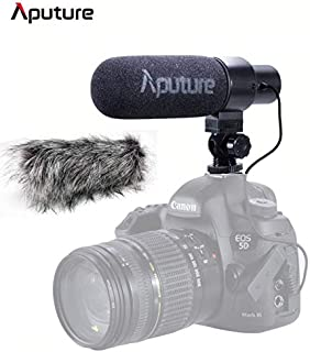 Aputure V-Mic D1 Super-Cardioid Directional Condenser Shotgun Microphone, Microphones with Windscreen, Windshield and Cold Shoe Mount,Low-Cut Filter,Video Shooting for Canon/Nikon/Sony