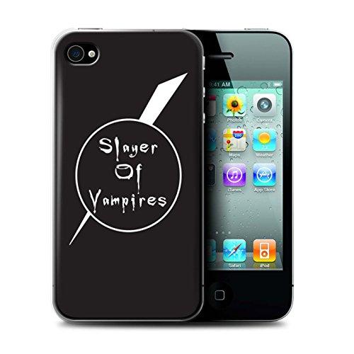 Stuff4® beschermhoes/cover/case/behuizing/behuizing/behuizing/behuizing/doos, bedrukt met Vampier-ontwerp voor Apple iPhone 4 / 4S