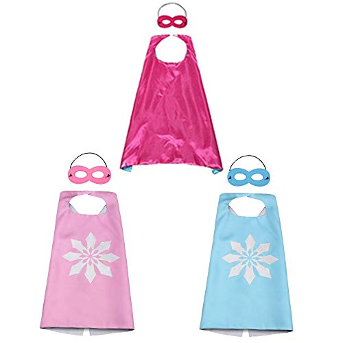 BJ-SHOP Kinder Umhang Maske, Kostum Kinder die Mantel Jungen und Madchen Superheld Spielwaren fur Geburtstag und Kinderkostum Partei Zurechtmachen