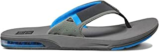 Reef Men's Fanning Low Grey/Blue Flip Flops