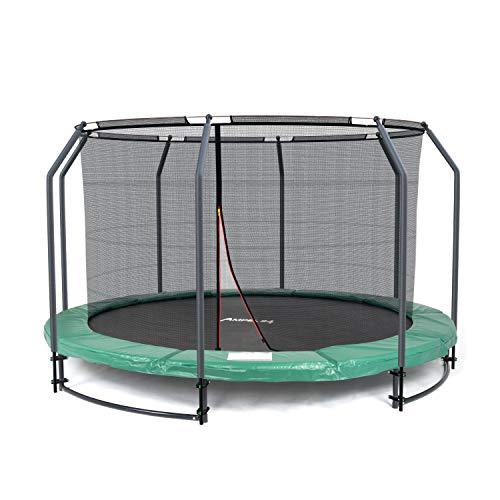 Ampel 24 Deluxe Ground Trampolin 366 cm komplett mit innenliegendem Netz, Sicherheitsnetz mit...