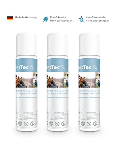 PetTec Nachfüllspray im 3er-Pack für Erziehungshalsband Funk Spray Trainer und Antibell geruchlos
