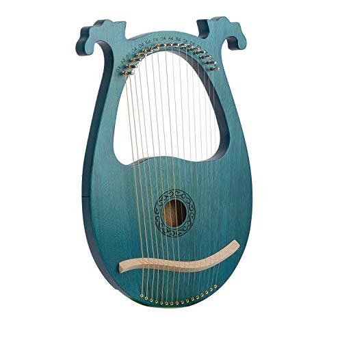 Dosige 16 Saiten Mahagoni Lyre Lyric Instrument Kleine Harfe Saiteninstrument, Bonus Stimmkurbel, Europäische Arabeske
