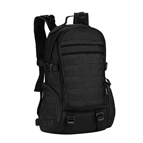 MagiDeal Sac à Dos Molle Bagage Sport Caping Randonnee Sac Voyage Support Reglable - Noir, 35L