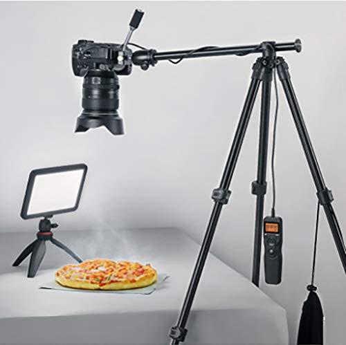 SLR Camera Statief Aluminium Draagbare Multi-Functie Outdoor Reizen Mobiele Telefoon Live Ondersteuning Compatibel met Digitale Camera/Dv/Camera/Telescoop Etc. Stabiel en stabiel. Adjustable Zwart