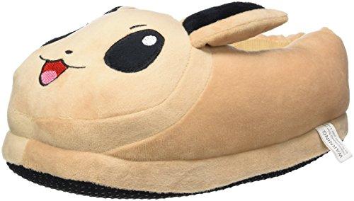 CARCHET - Zapatillas de Felpa para Niños y Adultos Unisex Pantuflas Cerradas de Casa para Invierno Peluche Pokémon - Talla única 36-44 - Eevee - Color marrón