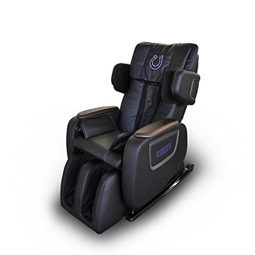 Lowest Price! Officially Licensed NFL Electric Full Body Shiatsu Massage Chair Foot Roller Zero Grav...