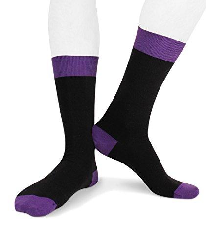 Lord of Socks - Fashion-Socke - Strumpf - PARIS - One Size - ECOTEC® - Made in Italy (Violett)