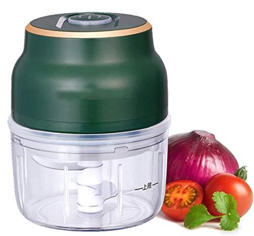 Picadora de carne eléctrica Mini picadora de carne de ajo picadora de carne eléctrica con picadora de alimentos recargable USB, adecuada para cocina y comida para bebés-150ML 1