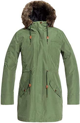 Roxy Damen Wasserdichte 3-in-1-jacke Amy 3in1 - Wasserdichte 3-in-1-Jacke für Frauen, bronze green, M, ERJJK03366