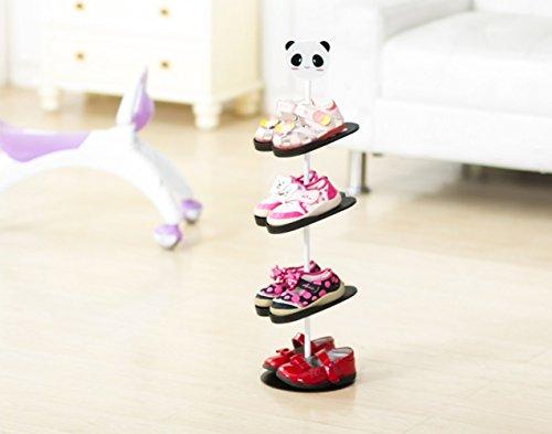 AddfunKids Schuhregal,Kreativ Bodenausführung rotierend Schuh Lagerung Gestell Dreidimensional...