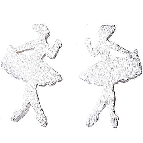 Oorbellen - 925 zilver - meisje - klein - danser - lob - cadeau-idee - verjaardag - kerstmis