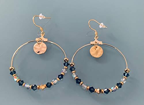 Criollos bohemios con sellos y perlas, joyas de mujer, criollos de oro, joyas de oro, joyas de regalo, regalo de mujer, joya bohemia