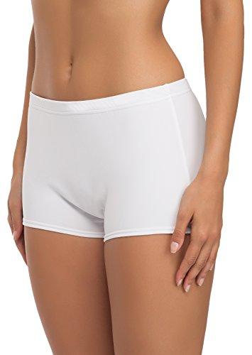 Merry Style Damen Badeshorts Bikinihose Modell L23L1 (Weiß (0016), 40)