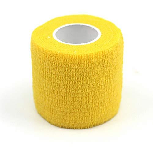 SSFFSJDM Schutzwerkzeug Muskelpflege wasserdicht Sporttherapie Band Sportband Gummiband 4,5 m * 5 cm gelb
