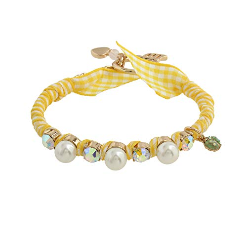 Betsey Johnson Pearl Gingham Bracelet