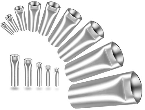 Caulk Nozzle Applicator - 14Pcs Perfect Caulking Finisher Kit, Premium Stainless Steel Sealant Caulk Finishing Tool Kit for Kitchen Bathroom Window Sink Joint