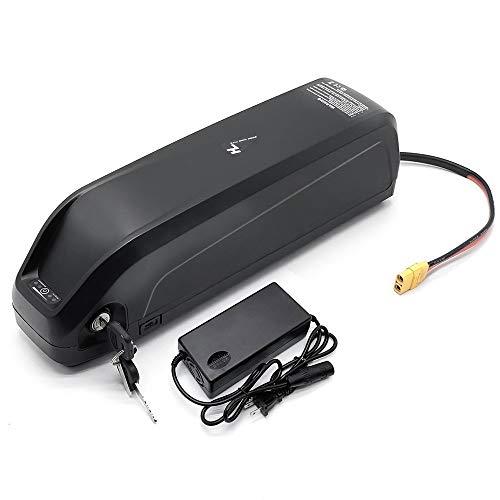 Hailong Li-OIN batería con USB 48V13Ah 48V 17AH Bicicleta eléctrica Downtube la batería con el Cargador de 250W 500W 750W 800W 1000W Motor (Charger : 48V13Ah)
