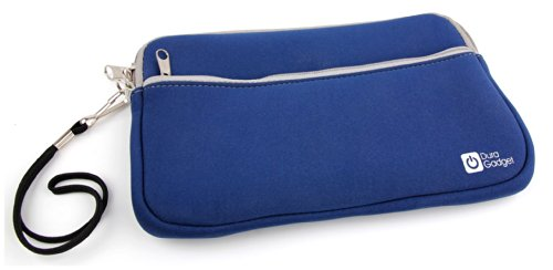 DURAGADGET Custodia Neoprene Blu Per Calcolatrice Casio fx-991ES PLUS | FX-570ES Plus - Tasca Esterna + Maniglia Di Trasporto