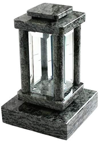 Lámpara para tumba con base de granito y olivas, color verde
