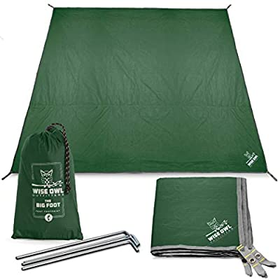 Wise Owl Outfitters Camping Tarp Waterproof Tent Footprint Lightweight Floor and Ground Tarps for Camping Hiking and Ultralight Backpacking