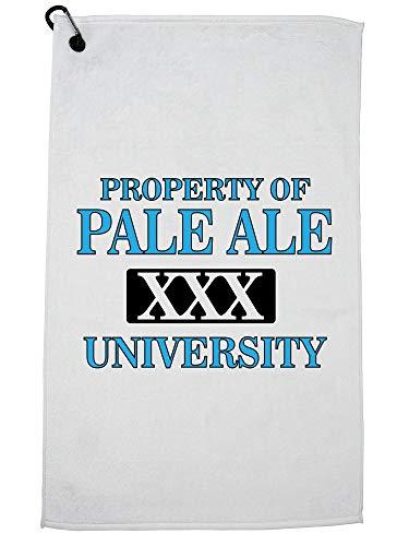 Hollywood draad eigendom van Pale Ale University - bier drinken Golf handdoek met karabijnhaak Clip