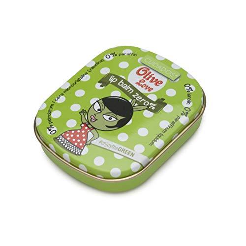 Cuidados Lip Balm Zero% - Bálsamo labial sin derivados del petróleo. Hidratante para los labios. Bálsamo hidratante con aceite de oliva. Formulación premium- 25ml