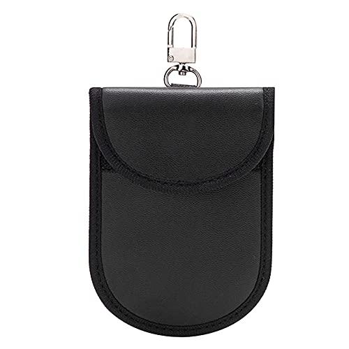 FEMONGY Faraday, 1 Articulo Bolsa Faraday, Jaula de Faraday, Material de Cuero de PU, Evita Fugas de información, Protector RFID, Adecuado para garantizar la Seguridad del vehículo (9 x 13cm, Negro)
