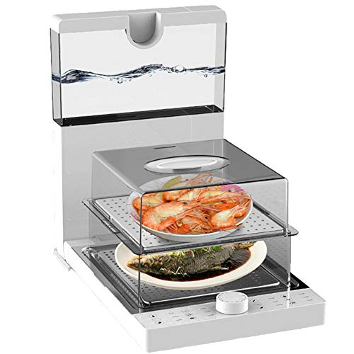 Vaporizador eléctrico plegable, vaporizador, jaula de vapor, multifunción, máquina de cocinar en casa, transparente, tamaño, capacidad, multicapa