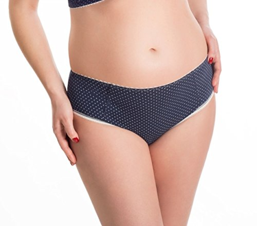 BaiBa Culotte classique de grossesse / de maternité en coton (42, Bleu foncé)