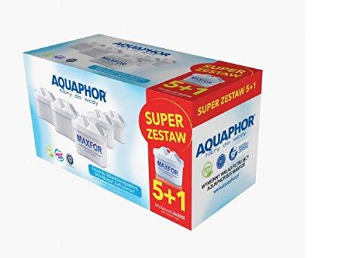 AQUAPHOR 6 x Wasserfilter- Wechselkartusche Maxfor (B100-25) Ersetzt Filterkartusche MAXTRA®* von BRITA ®*. Kompatibel mit Wasserfilterkannen Time, Amethyst, Onyx, Jasper
