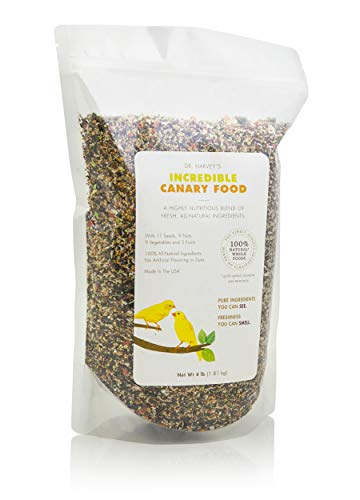 Dr. Harvey's Incredible Canary Blend, Natural Food for Canaries (4 pounds)