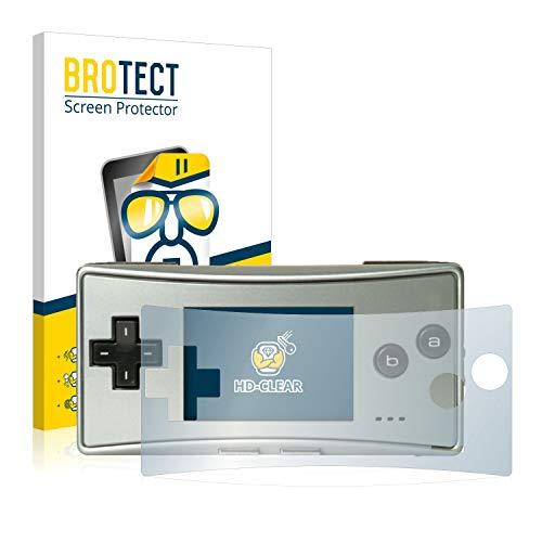 brotect Pellicola Protettiva Compatibile con Nintendo Gameboy Micro Pellicola Trasparente (2 Pezzi) Anti-Impronte