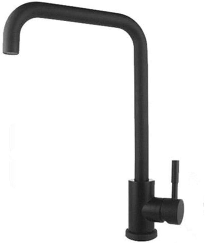 Kitchen Brass Retrostainless Steel Single Handle Black White Deck Mounted Basin Washroom Bathroom Kitchen Mixer Tap