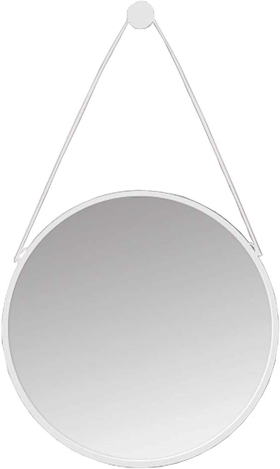 Hanging Mirror-Bathroom Makeup Mirrors Large Modern White Circle Frame Wall Mirror   Floating Round Glass Panel   Vanity Mirror for Bedroom or Living Room(16Inch-32Inch)