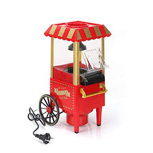 AllRight Popcornmaschine für Zuhause Nostalgie Popcorn Maschine Heißluft Popcornmaker ohne Fett Fettfrei Ölfrei