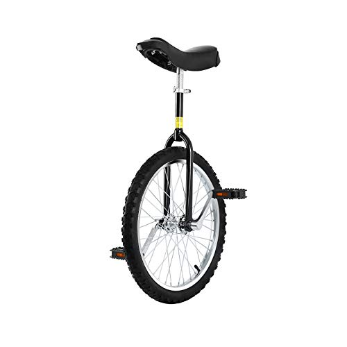 """Yonntech Unicycle 16\""""/20\"""" Outdoor-Coach Einrad-Höhe einstellbar, Nicht rutschfeste Butyl-Bergradwaage-Zweirad-Familie (16 RED)"""