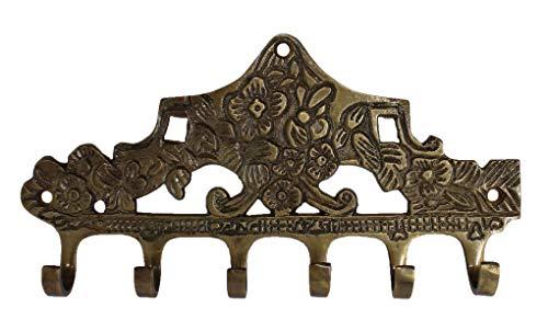 Art of Décor French Solid Brass Victorian 6 Hook Wall Key Tie Key Holder Hanger Hook 8