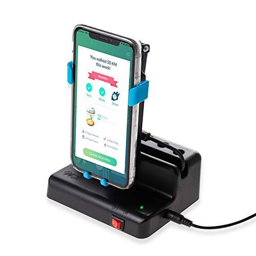 NEWZEROL Handy Swing Zubehör Kompatibel für Poke Ball Plus/Pokemon Go Handy [Max 6,4 Zoll] Automatischer Shake-Schrittzähler, [USB-Kabel][Einfache Installation] Schnelle Schritte Verdienen Gerät-Blau