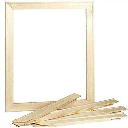zunbo - Marco de fotos de madera maciza para pared, marco de pintura cuadrado para montaje en pared, mesa, material de montaje incluido, natural (40 x 50 cm)