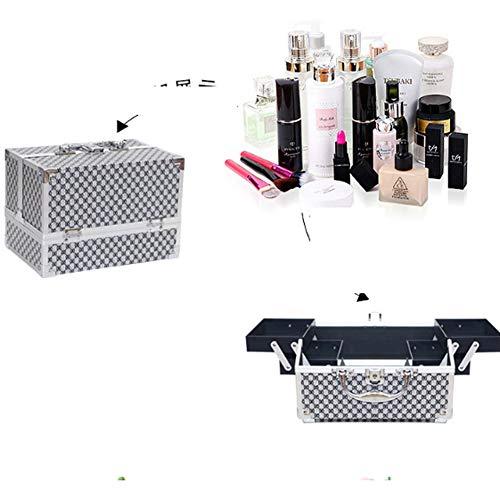 WYLYD Tragbare Aluminium-Kosmetik-Etui kosmetische Schmuck Aufbewahrungsbox Schönheit Wimpern...